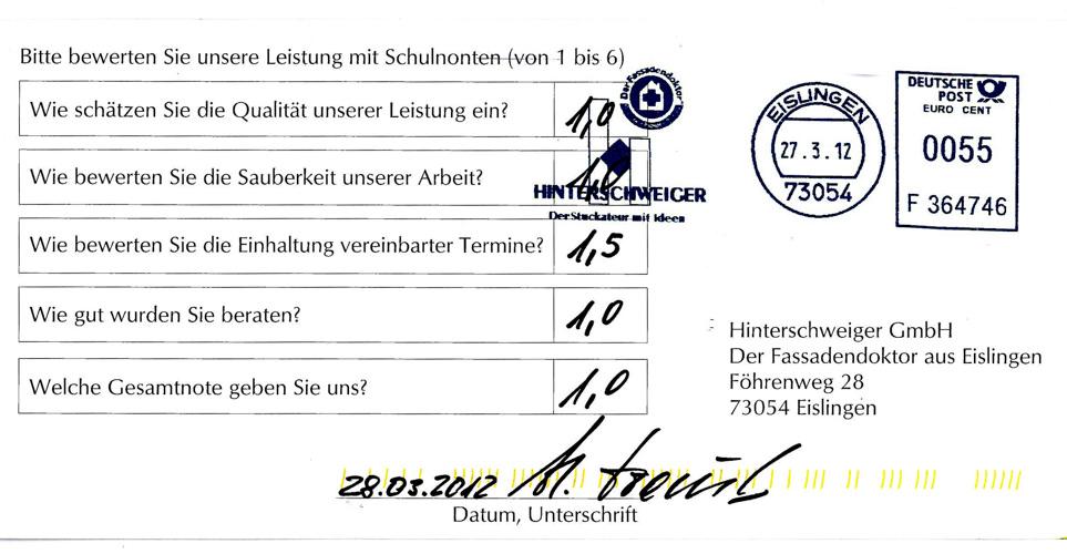 Erfahrung Waermedaemmung Ottenbach Hinterschweiger