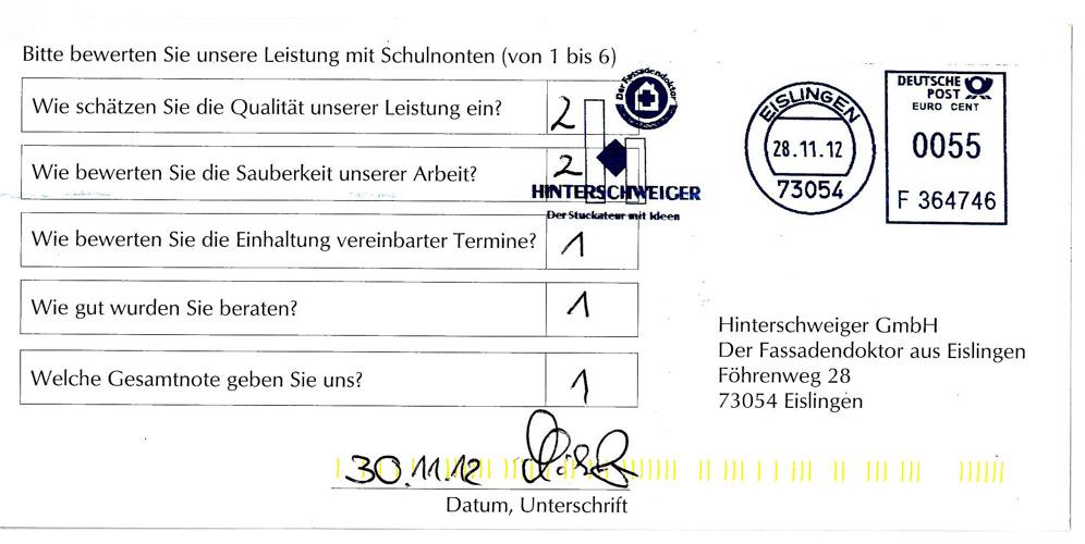 Kundenbewertung Sanierung Albershausen