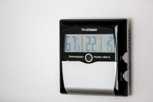 Hygrometer zur Vermeidung von Schimmel